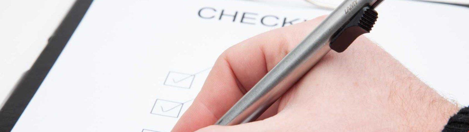 Förderung Checkliste