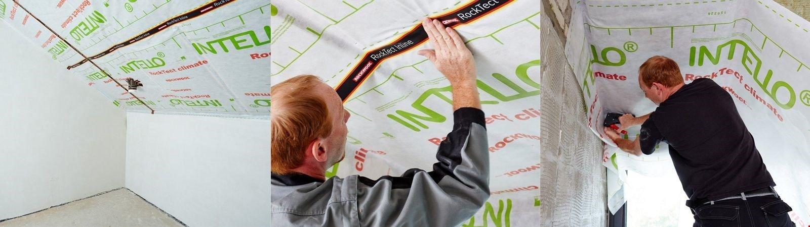 Dampfsperre: Spezialfolie zum Abdichten der Dachdämmung