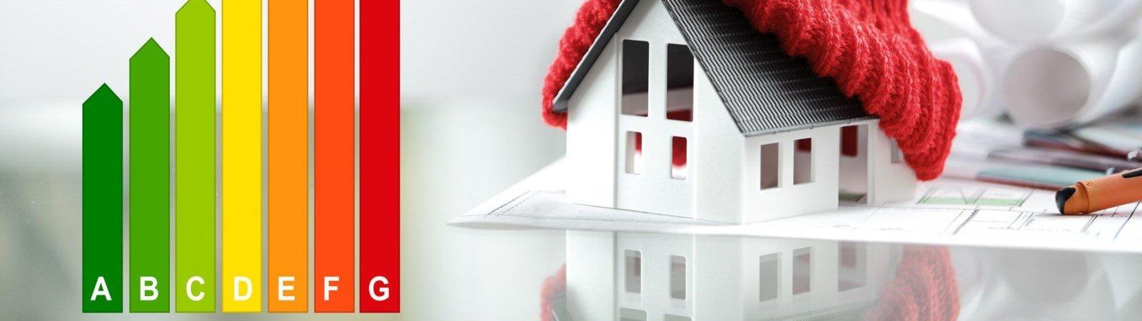 Energieeffizienzklassen A+ bis H für Gebäude