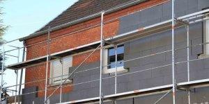 Fassadendämmung Überbau zum Nachbarn