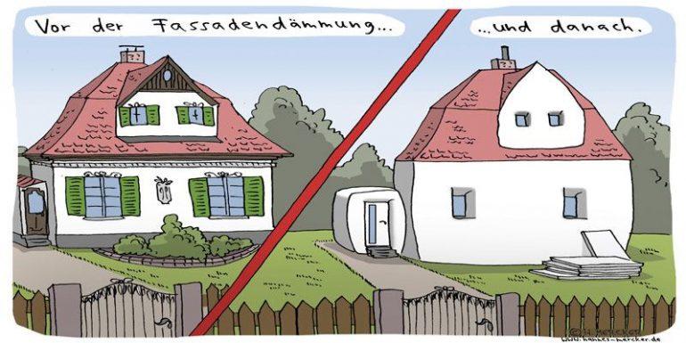 Comic Fassadendämmung