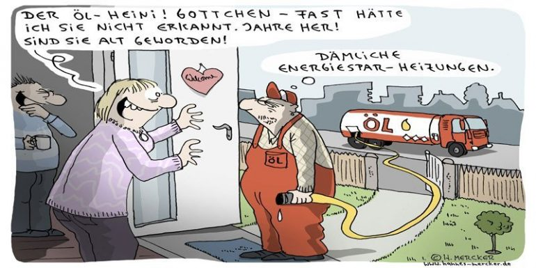 Öleinsparung Comic