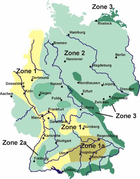 Karte Schneelast Deutschland