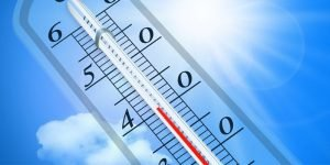 Thermometer im Sommer